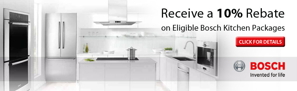 Save up to 10% on Select Bosch Kitchen Packages